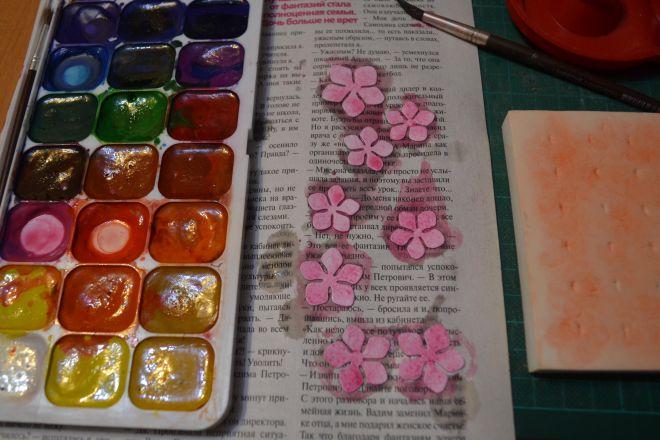 открытка с цветами своими руками из бумаги (3)