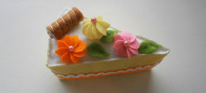 Пирожное из фетра1