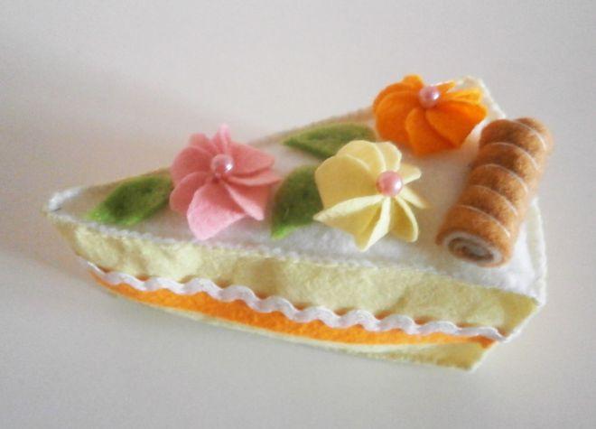 Пирожное из фетра14
