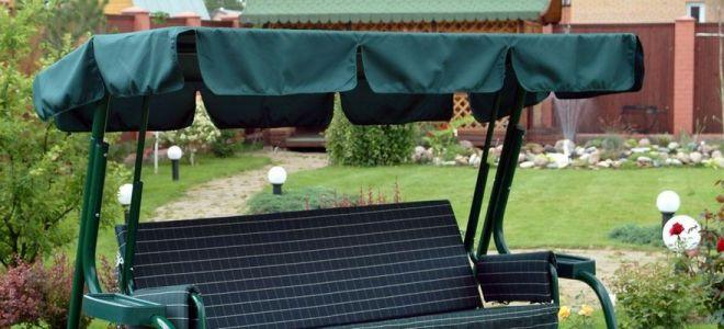 тент для садовых качелей