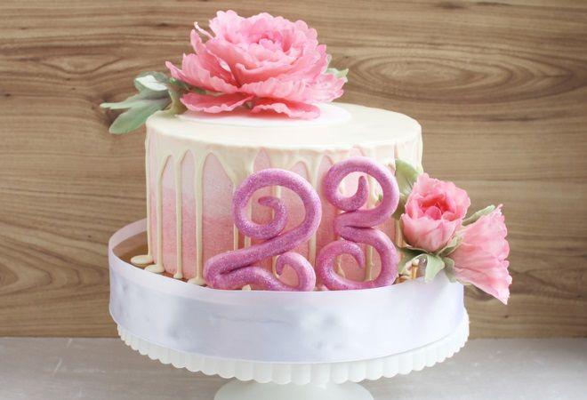 украшение торта на день рождения простой мастикой