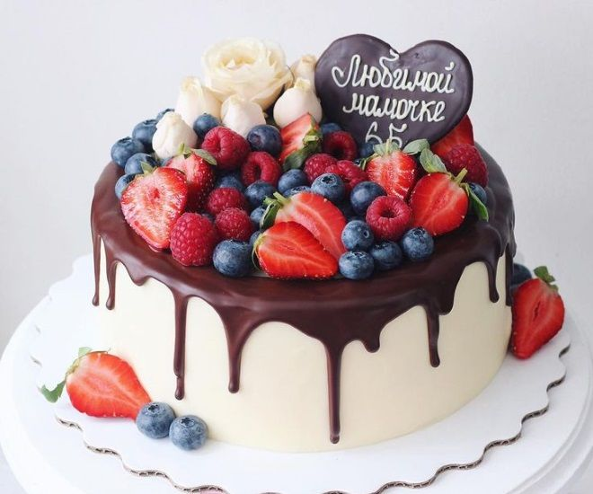 Как украсить торт для мамы 3