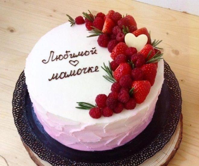 Как украсить торт для мамы 5