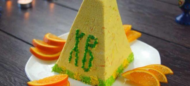 Творожная пасха с апельсиновой цедрой и желатином
