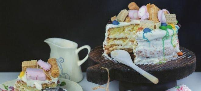 бисквитный детский торт