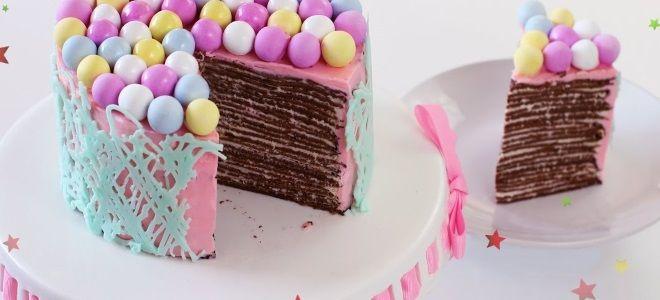 блинный торт на день рождения
