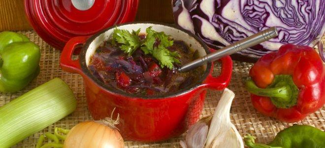 Борщ из красной капусты - рецепт