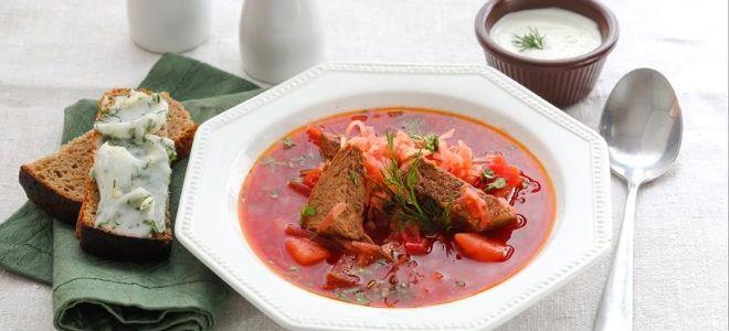 Борщ из квашеной капусты - классический рецепт