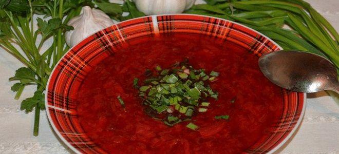 борщ с чечевицей рецепт вегетарианский