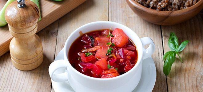 борщ вегетарианский рецепт классический