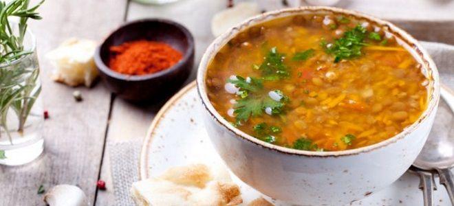 чечевичный суп постный рецепт