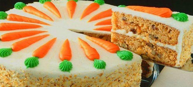 детский морковный торт
