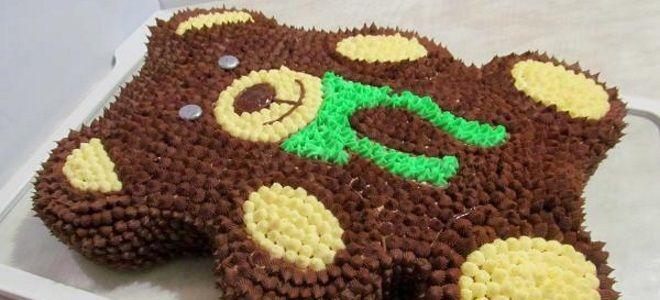 детский шоколадный торт