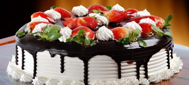 детский торт с ягодами и фруктами