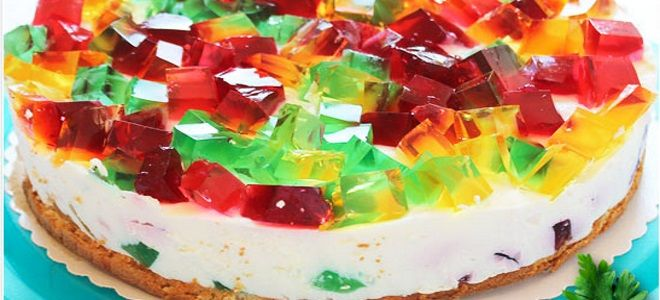 детский творожный торт