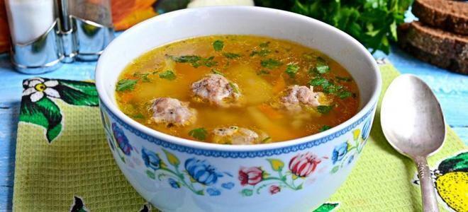 гороховый суп с куриными фрикадельками