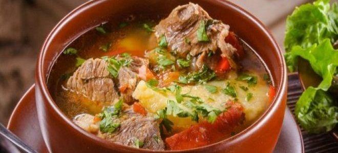хашлама суп из баранины