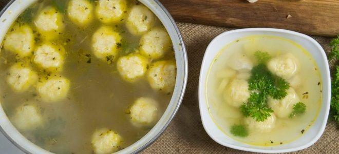 как сделать клецки для супа