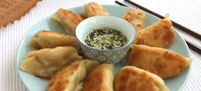 китайские жареные пельмени рецепт
