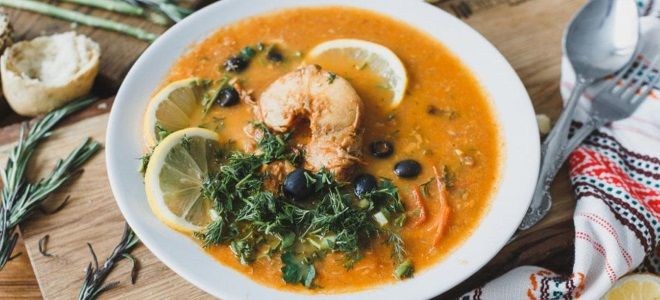 классическая рыбная солянка рецепт