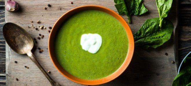крем суп из шпината со сливками
