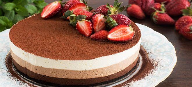 Муссовый торт маме на день рождения