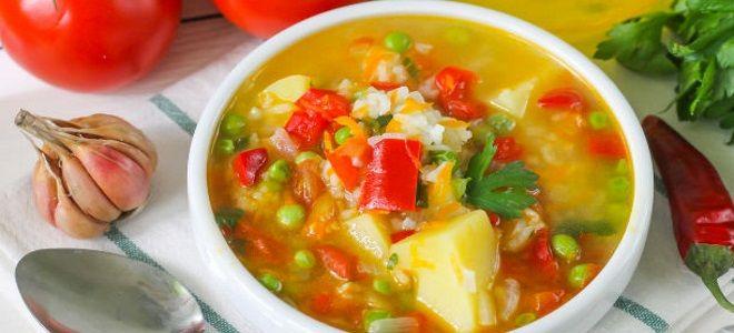 овощной вегетарианский суп рецепт