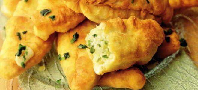 постные пирожки с картофелем и зеленым луком