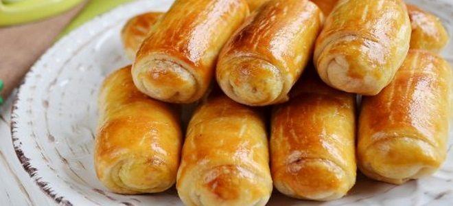 постные слоеные пирожки с картошкой