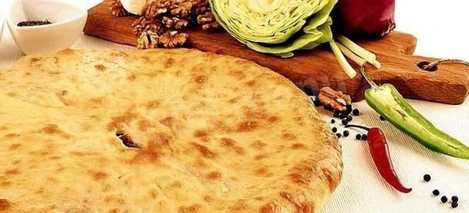 постный осетинский пирог с капустой рецепт