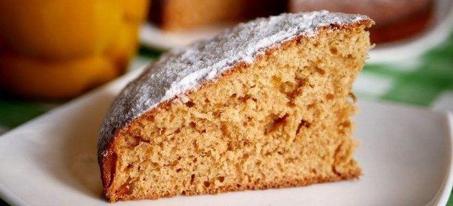 постный овсяный пирог с вареньем