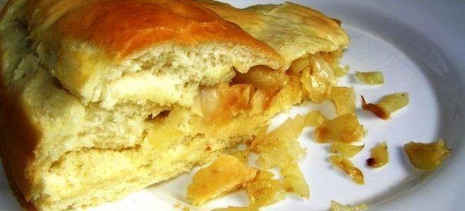 постный пирог с квашеной капустой