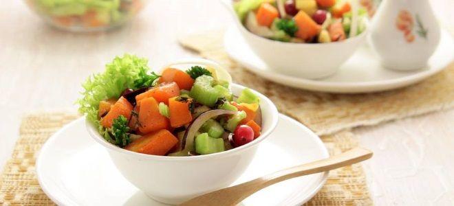 Постный салат из тыквы
