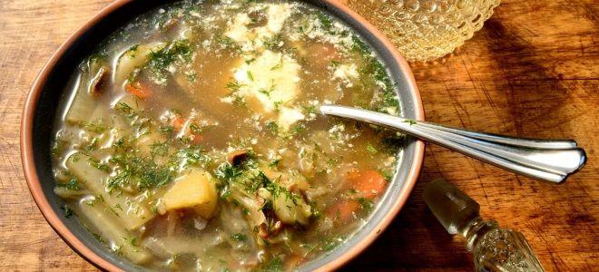 Постный суп из квашеной капусты