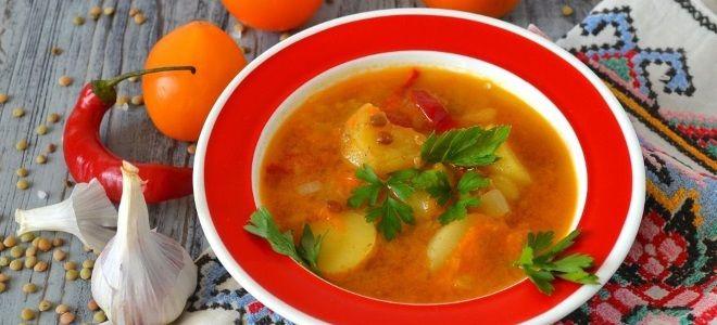 постный суп с чечевицей и картофелем рецепт
