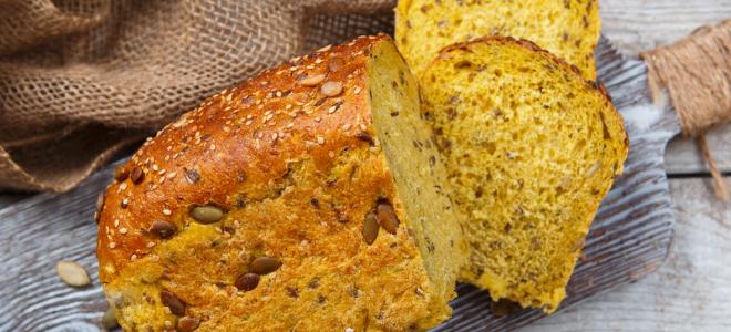Постный тыквенный хлеб