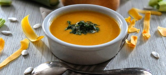 Постный тыквенный суп