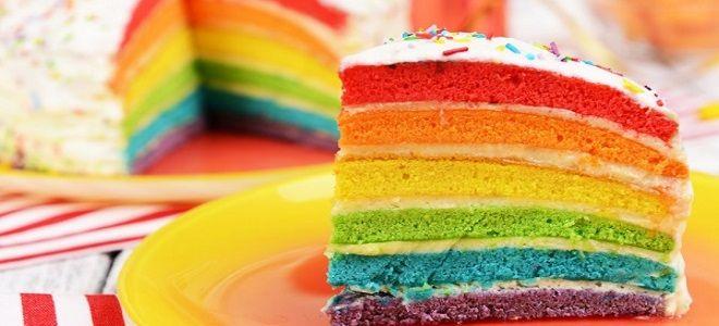 радужный торт на день рождения