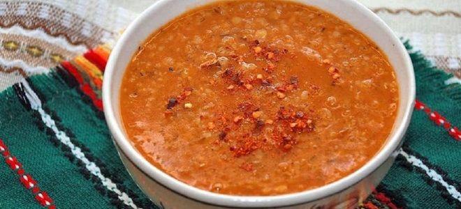 рецепт супа из чечевицы постный турецкий