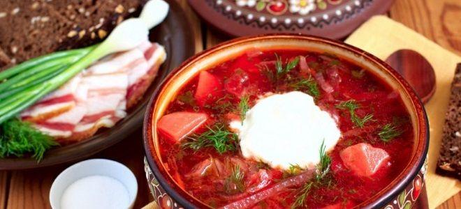 рецепт украинского борща со свеклой и капустой