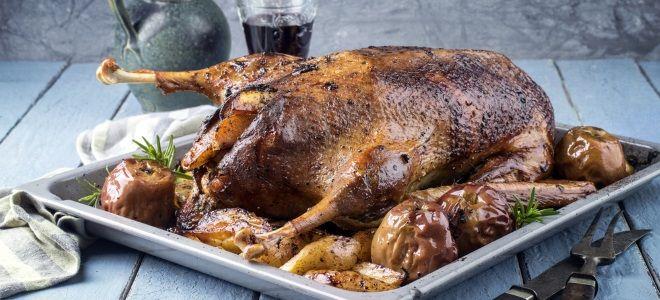 рецепт утки в духовке целиком с медом