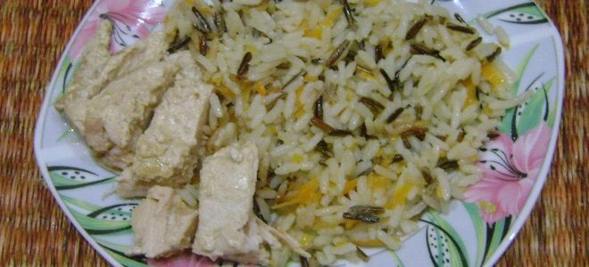 рис с курицей в пароварке