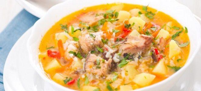 рыбный суп из горбуши с рисом