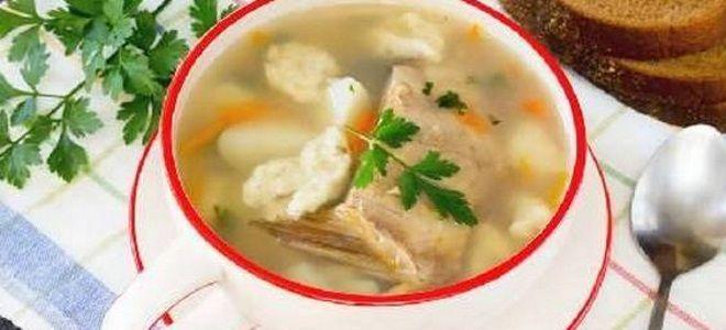 рыбный суп с клецками рецепт