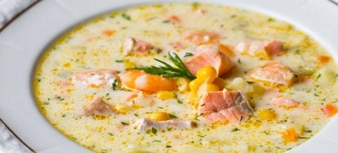 рыбный суп с креветками и семгой