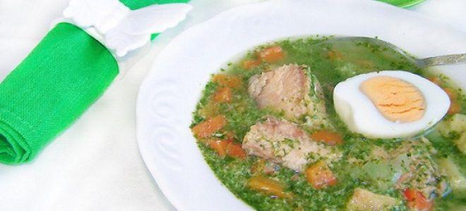 рыбный суп со шпинатом