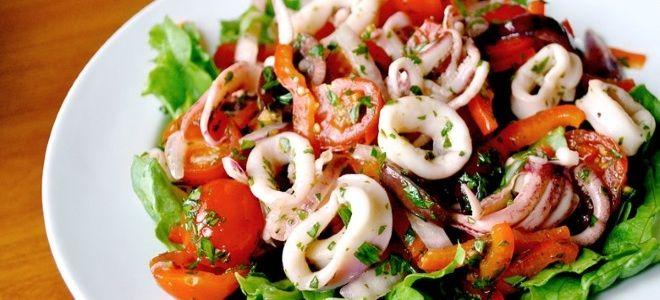 салат из консервированных морепродуктов