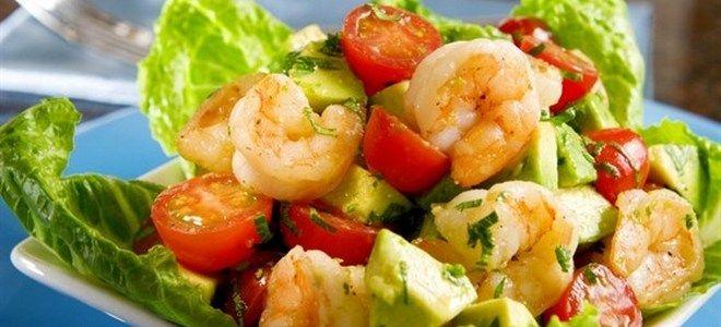 салат с авокадо и морепродуктами рецепт