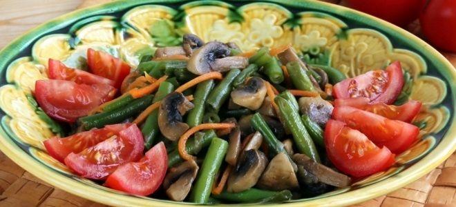 салат со стручковой фасолью постный