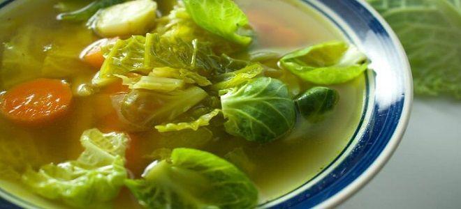 Щи из капустных листьев - рецепт